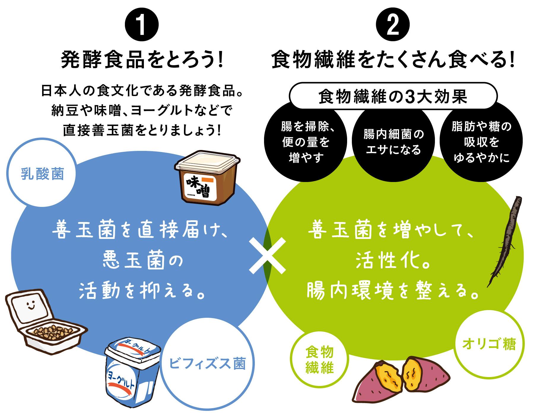 善玉 菌 増やす 善玉菌を増やす食べ物・食品