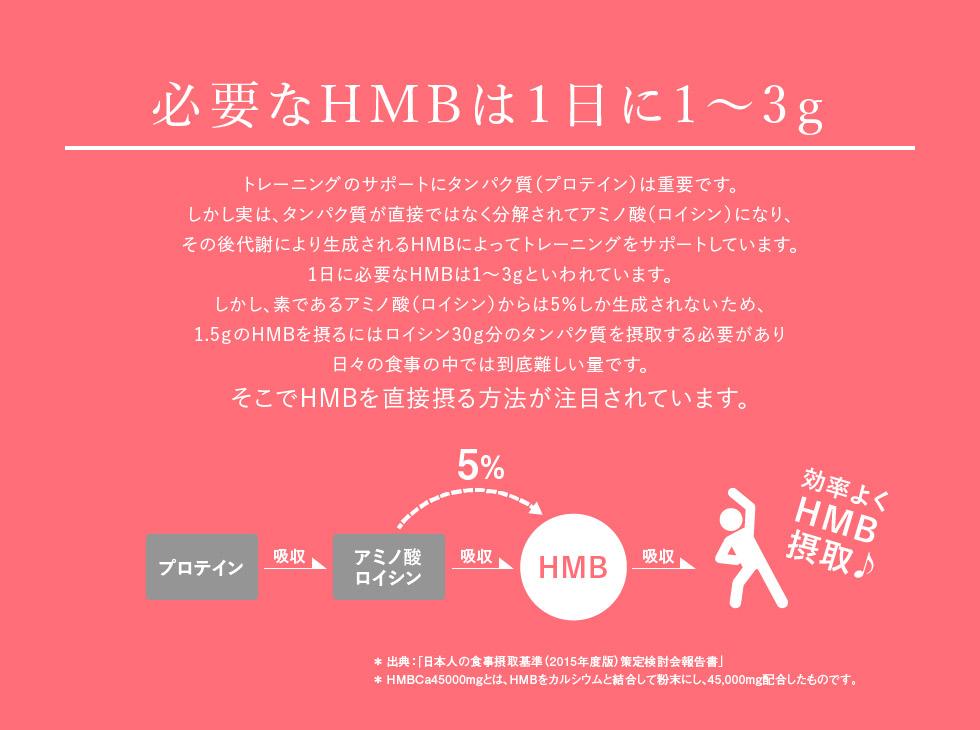 必要なHMBは1日に1〜3g