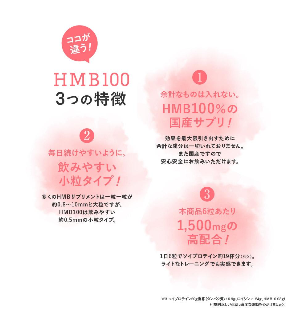 HMB100 3つの特徴